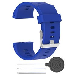Hunpta Ersatz Silikon Rubber Watch Band Armband für Polar V800 Watch (Blau)